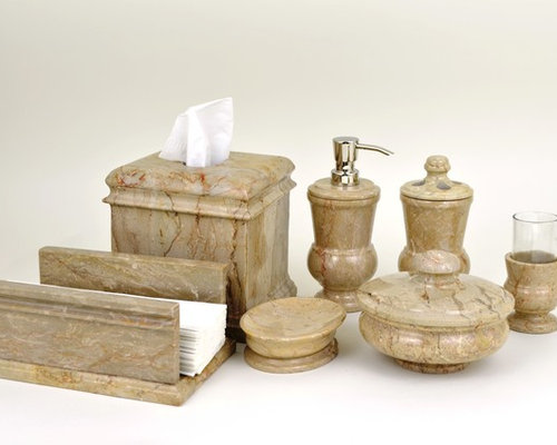 Marble bathroom accessories collection for The collection bathroom accessories
