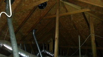 Before/After Energy Efficient Attic