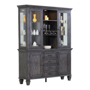 China Cabinet in Weathered Gray Finish