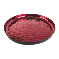 Hammered Red Serving Tray