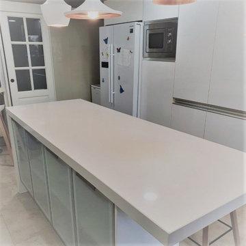 Silestone Blanco Zeus Penthouse Kitchen