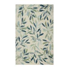 """Sage Ash Modern Floral Area Rug, 7'6""""x9'6"""""""