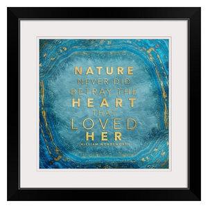 """Nature Agate - Teal"" Black Framed Art Print, 24""x24""x1"""