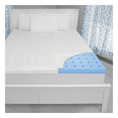 "SensorPEDIC Luxury Extraordinaire 3"" Memory Foam Mattress Topper, Queen"