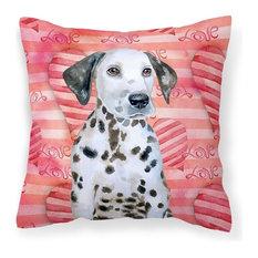 Dalmatian Puppy Love Fabric Decorative Pillow