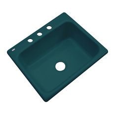 Madison 3-Hole Kitchen Sink, Teal
