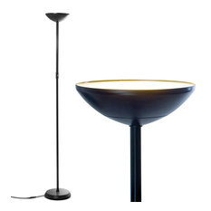 Brightech SkyLite LED Torchiere Floor Lamp – Bright for Reading, Black