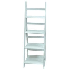 Scott Ladder 4-Tier Display Shelf, White