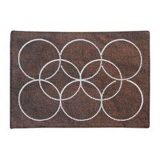 Intertwined Rhinestone Circles Placemat, Chocolate
