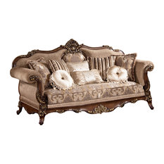 Queen Anne Style Clear All Furniture Import Export Inc Winfrey Traditional Sofa Sofas