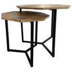 Evolution by Crestview Collection - Charles Set of 2 Nesting Tables - The Evolution by Crestview Collection 2 Piece Mango Wood and Iron Nesting Tables are a decorating dream come true. With their space-saving design and natural wood finish, these tables will liven up any space. Clear the floor for dance parties by tucking one table under the other or separate them for a killer install-worthy look. Made from durable mango wood and iron metal, these tables are made with all your design desires in mind.