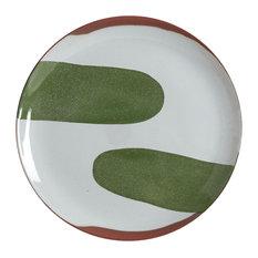 Handmade Terracotta Large Plate by Silvia K Ceramics, Dark Green