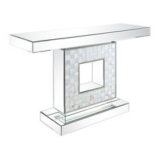 ACME Nasa Console Table Mirrored/Mother Of Pearl