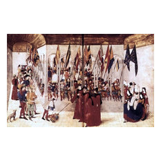 Barthelemy D'Eyck Presentation of Flags and Helms Gallery Wrapped Canvas Print