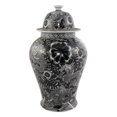 Temple Jar Floral Dragon Colors May Vary