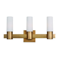 Contessa 3-Light Bath Vanity Sconce, Natural Aged Brass