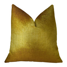 "Plutus Lumiere Bronze Handmade Throw Pillow, 22""x22"""