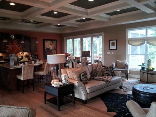 What Color Should I Paint My Coffered Ceiling Match The Walls Dark Or Bright