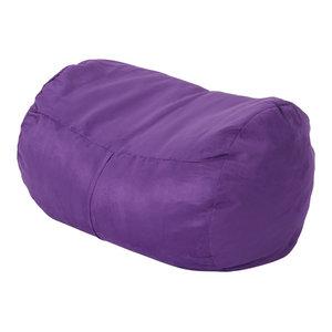 Pleasant Gdf Studio Cassell Purple Fabric 4 Foot Lounge Beanbag Chair Machost Co Dining Chair Design Ideas Machostcouk