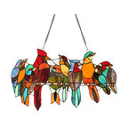 Passerine Stained Glass Hanging Art