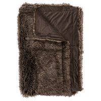 Brown Fur Throw, Brown