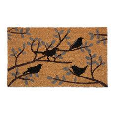 """Birds Vinyl Back Coir Doormat 18""""x30"""""""