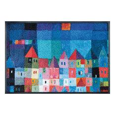 Colourful Houses Door Mat, 75x50 cm
