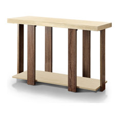 Alex Modern 2-Tone Sofa Table In Oak