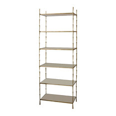 Studio A Home   Spike Etagere With White Marble   Bookcases