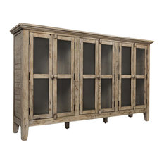 Rustic Shores Watch Hill Weathered Grey 70-inch Accent Cabinet