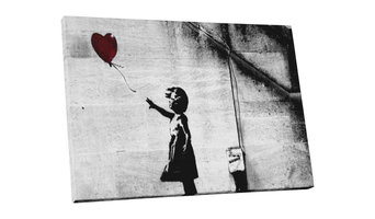 Banksy Girl With Balloon Gallery Framed Canvas Print