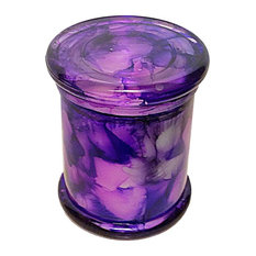 Apple Pie Cylinder Candle, Purple, 12 oz.