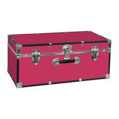 "Seward Trunk College Dorm and Camp Storage Footlocker, Pink, 30"""
