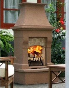 Calistoga Outdoor Wood Burning Fireplace   Outdoor Fireplaces