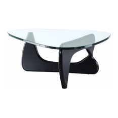 Manhattan Home Design   Sculptured Coffee Table, Black   Coffee Tables