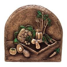 Vegetables Backsplash Mural, Copper