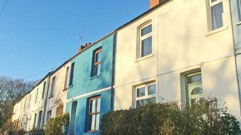 External Wall Insulation on row of terraced houses in Penarth, South Wales