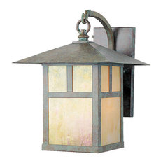 Livex Lighting   Montclair Mission Outdoor Wall Lantern, Verde Patina    Chandeliers