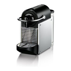Pixie Espresso Machine With Aeroccino Frother by De'Longhi, Aluminum