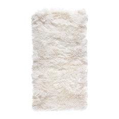 New Zealand Sheepskin Rug, 70x140 cm, Natural White