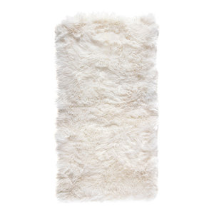 New Zealand Sheepskin Rug, 70x140 cm, Natural White