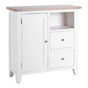 2-Drawer Organiser Cabinet, Pure White