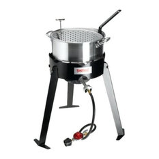 """Bayou Classic Outdoor Fish Cooker, 22"""" Tall Frame With 10 PSI Regulator"""
