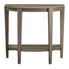 "36"" Hall Console Accent Table, Dark Taupe"