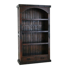 Hacienda Rustic Bookcase W/ 2 Drawers