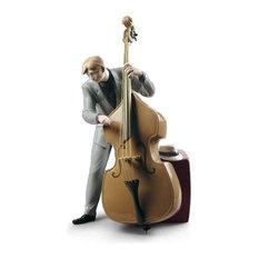 Lladro Jazz Bassist Figurine