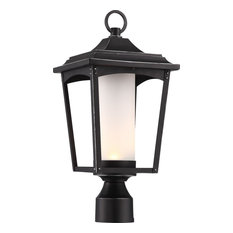 Essex Outdoor LED Post Lantern With Etched Glass