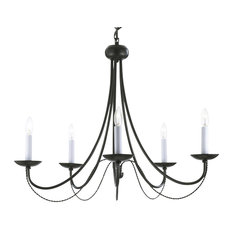 Plug in chandeliers houzz wrought iron white chandelier swag plug in chandeliers aloadofball Image collections