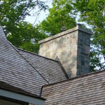 Astoria Natural Thin Stone Veneer Chimney