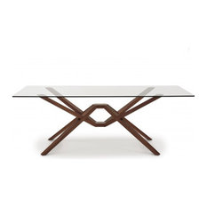 """Exeter Glass Top Table, 48""""x84""""x30"""""""